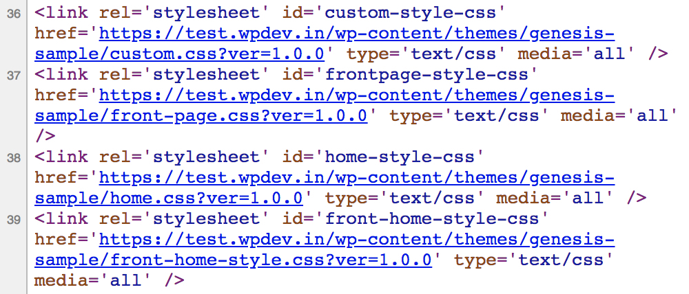 Conditional Tags to Load  custom.css stylesheet