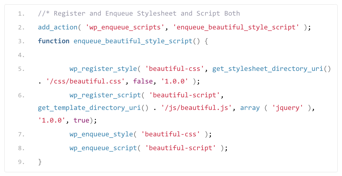 How To register & enqueue Stylesheets and Scripts
