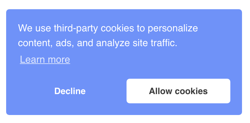 Cookie Consent bar in Genesis